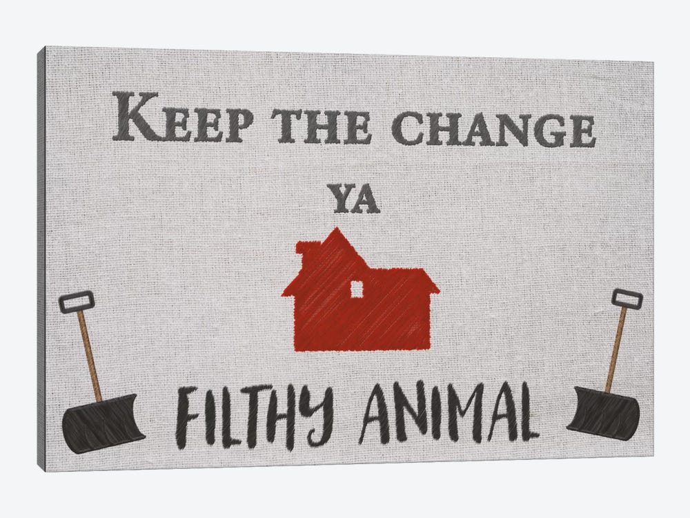 Keep the Change by 5by5collective 1-piece Canvas Art Print