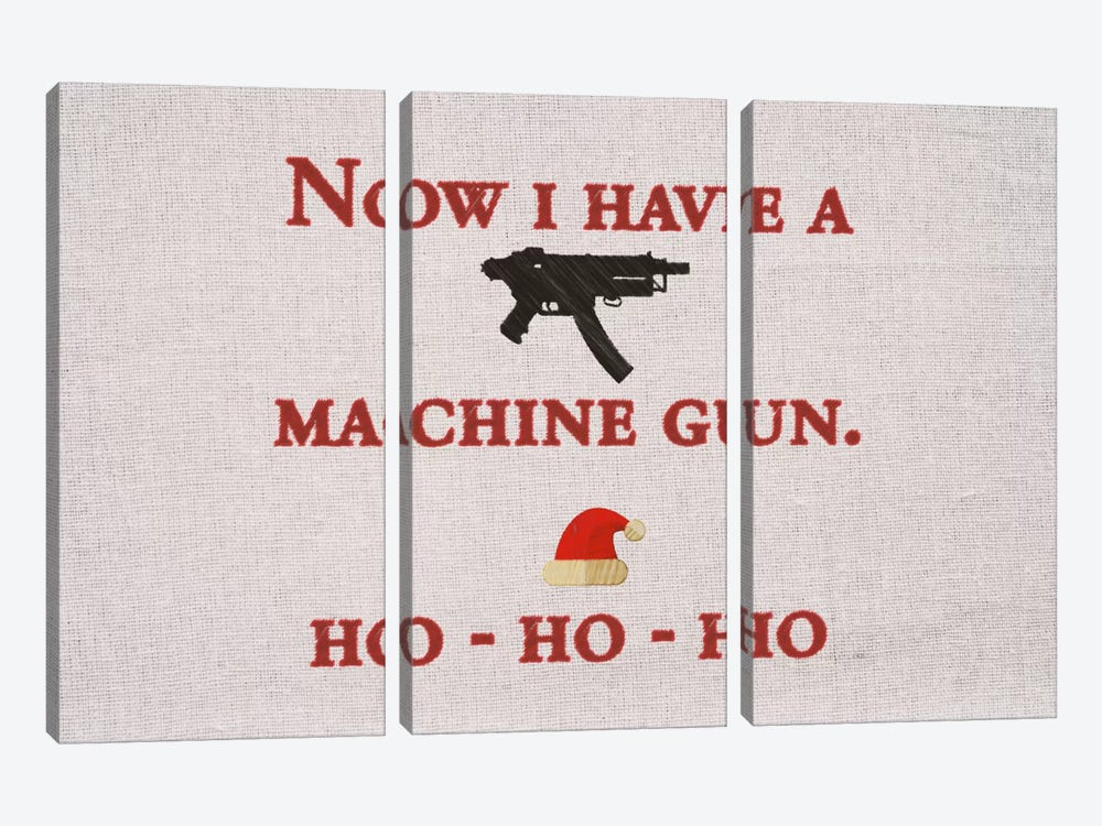 Now I Have A Machine Gun by 5by5collective 3-piece Canvas Wall Art