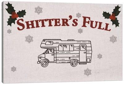 Shitter's Full Canvas Art Print