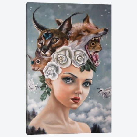Luci nel Cielo Canvas Print #CSE10} by Carla Secco Canvas Wall Art