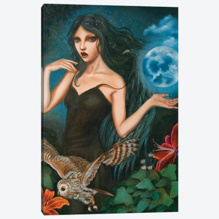 Nyx, Goddess of the night Canvas Print #CSE14} by Carla Secco Canvas Print