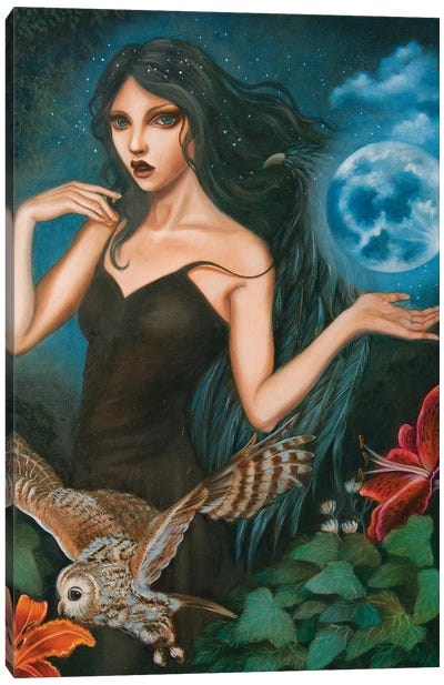 Nyx, Goddess of the night Canvas Art Print