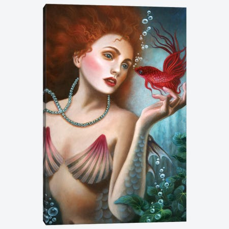 Deep Ocean Canvas Print #CSE20} by Carla Secco Art Print