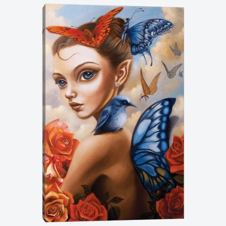 Il Vento Intorno Canvas Print #CSE7} by Carla Secco Canvas Art