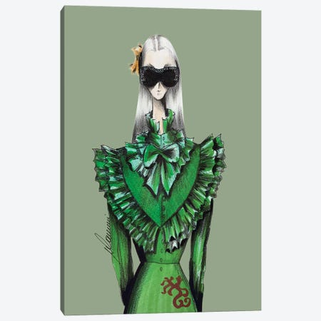 Gucci Warrior Canvas Print #CSI22} by Maria Camussi Canvas Art Print