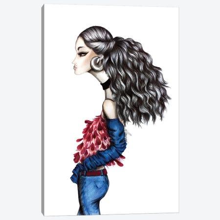 Big Hair Day Canvas Print #CSI2} by Maria Camussi Canvas Art Print