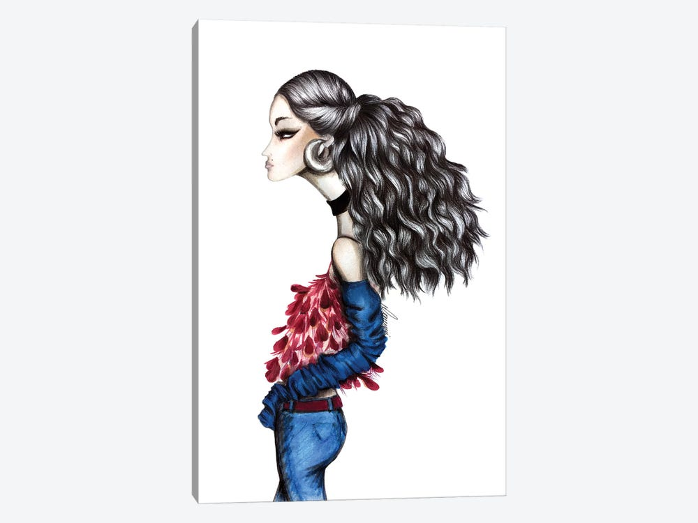 Big Hair Day by Maria Camussi 1-piece Canvas Print