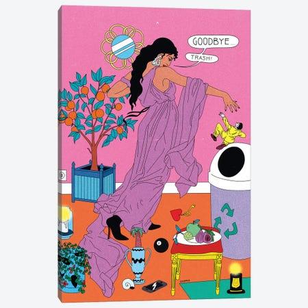 Goodbye Trash Canvas Print #CSO16} by Cosmo Art Print