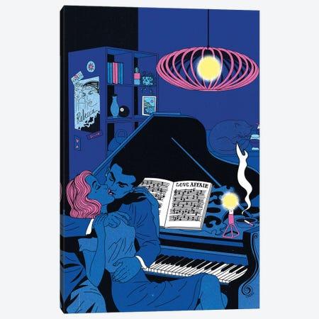 Piano Affair Canvas Print #CSO33} by Cosmo Canvas Art