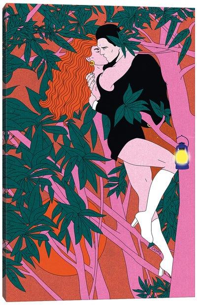 Tree Kiss Canvas Art Print