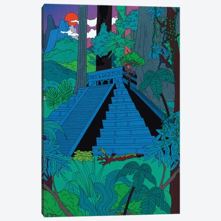 Jungle Temple Canvas Print #CSO56} by Cosmo Art Print