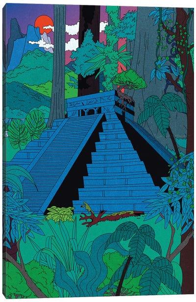 Jungle Temple Canvas Art Print
