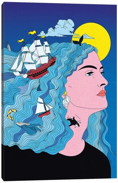 My Mind Is At Sea Canvas Art Print