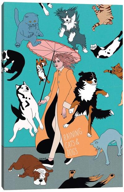 Cats & Dogs Canvas Art Print