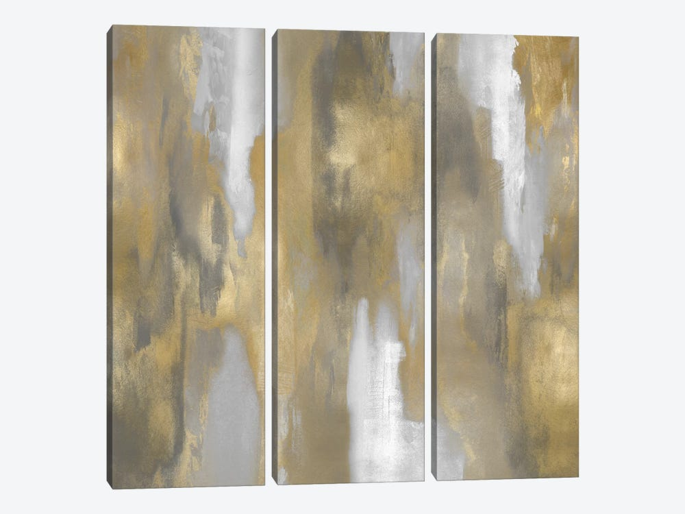 Apex Gold I by Carey Spencer 3-piece Canvas Art
