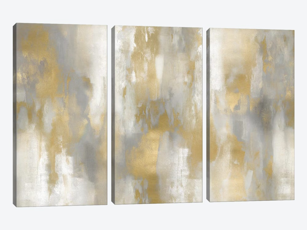 Golden Perspective I by Carey Spencer 3-piece Canvas Artwork