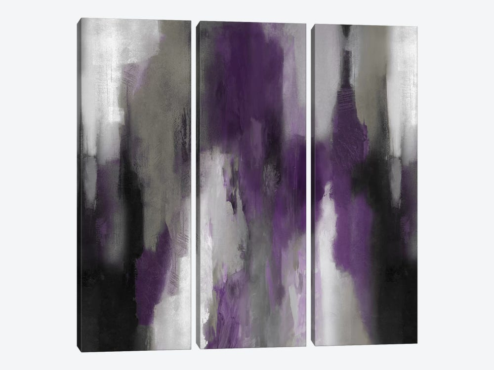 Amethyst Perspective II by Carey Spencer 3-piece Canvas Art