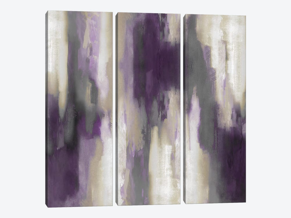 Amethyst Perspective III by Carey Spencer 3-piece Canvas Art Print