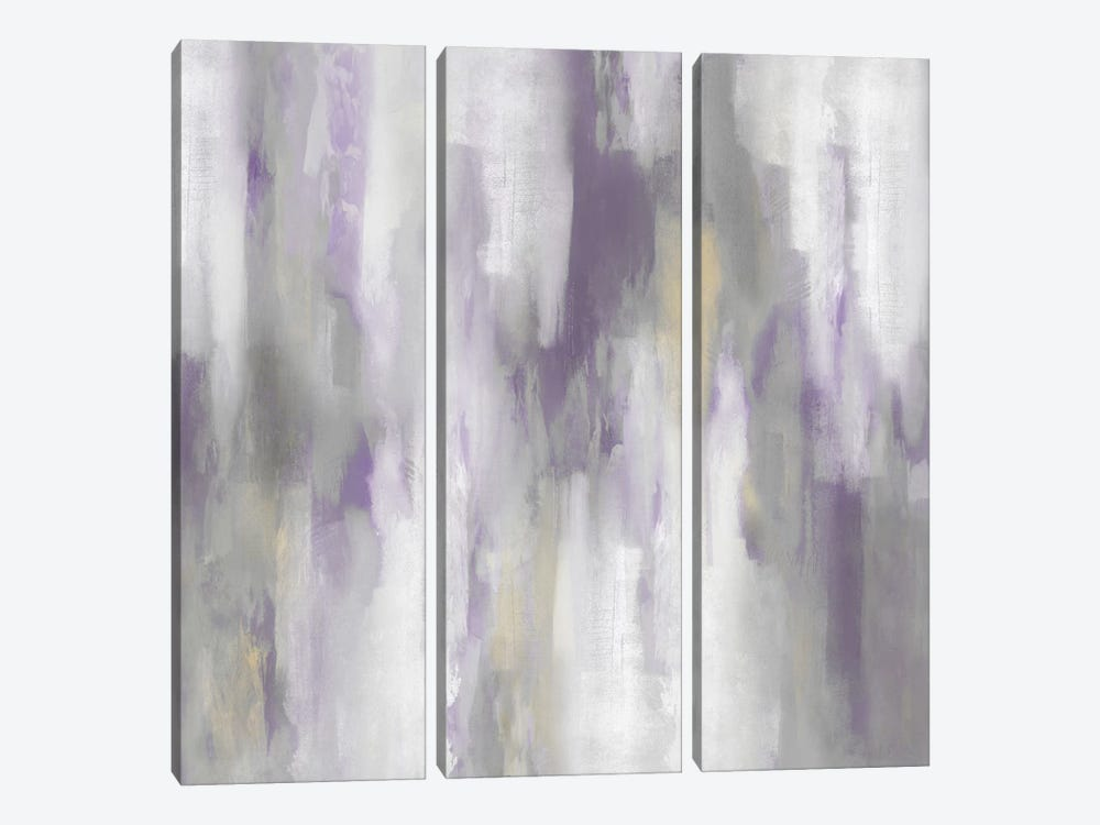 Amethyst Perspective IV by Carey Spencer 3-piece Canvas Artwork