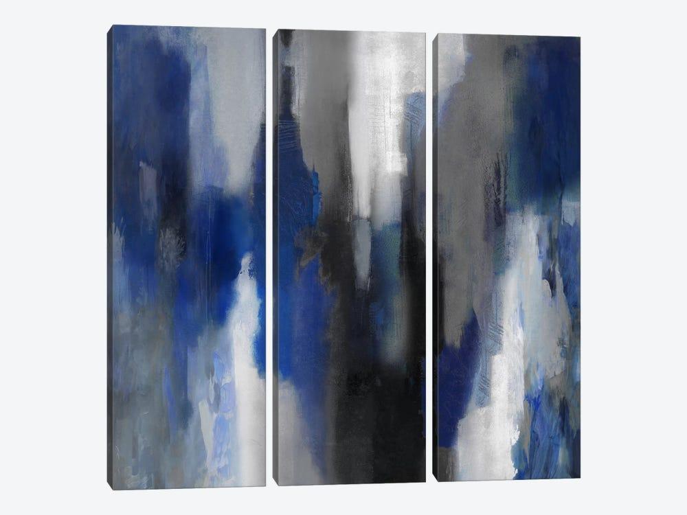 Apex Blue I by Carey Spencer 3-piece Canvas Art Print