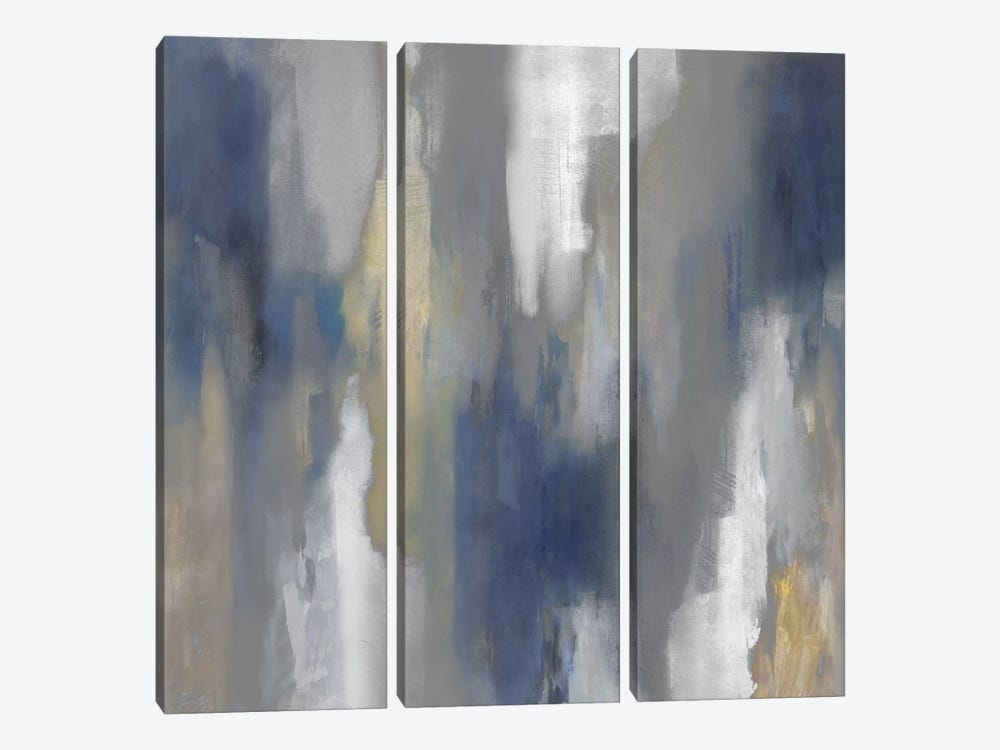 Apex Blue IV by Carey Spencer 3-piece Canvas Wall Art