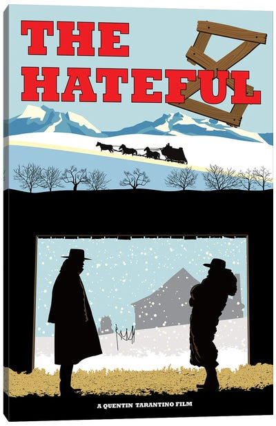 Hateful 8 Canvas Art Print