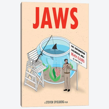 Jaws Canvas Print #CSR37} by Chris Richmond Canvas Art