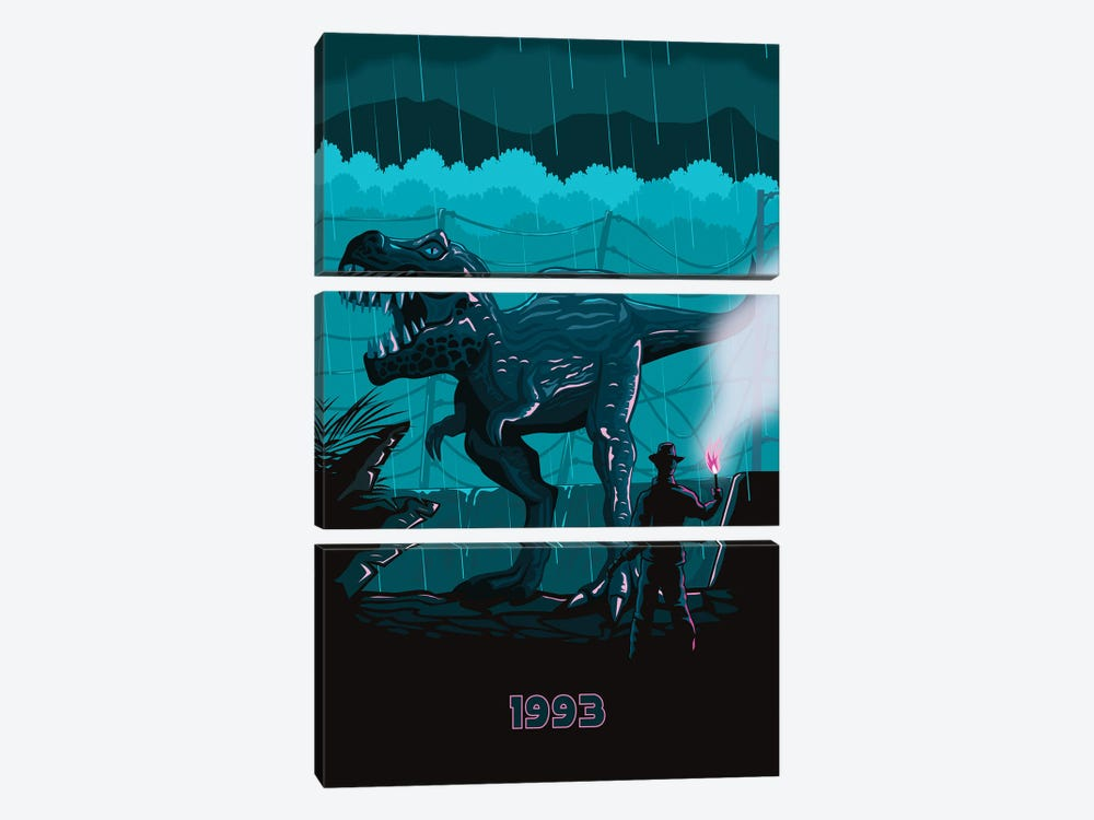 Jurrasic Park I 3-piece Canvas Art