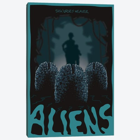 Aliens Eggs Canvas Print #CSR3} by Chris Richmond Canvas Art Print