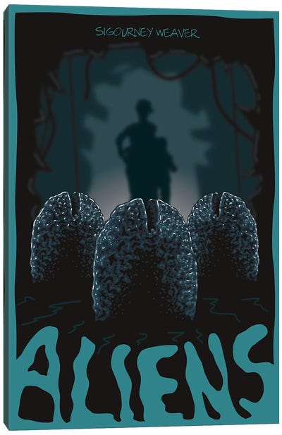 Aliens Eggs Canvas Art Print