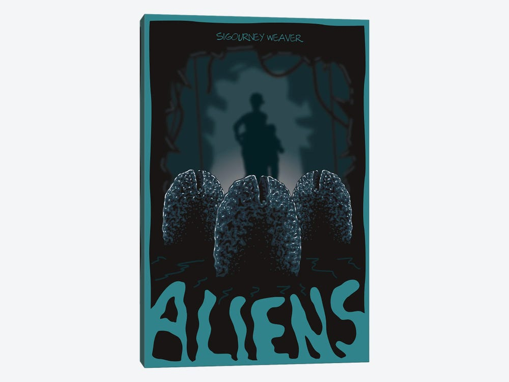 Aliens Eggs by Chris Richmond 1-piece Art Print