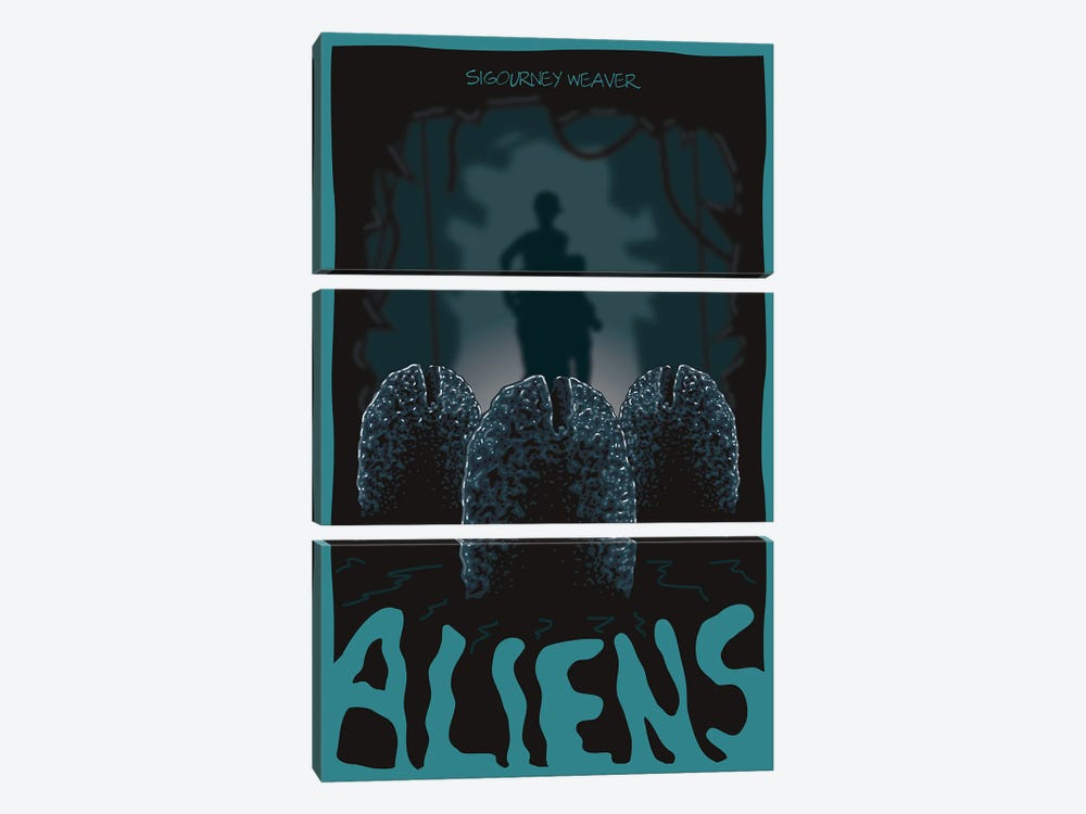 Aliens Eggs by Chris Richmond 3-piece Canvas Print