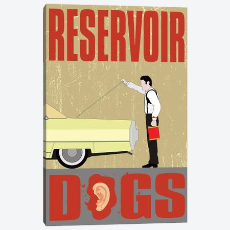Reservoir Dogs 3-Piece Canvas #CSR50} by Chris Richmond Art Print