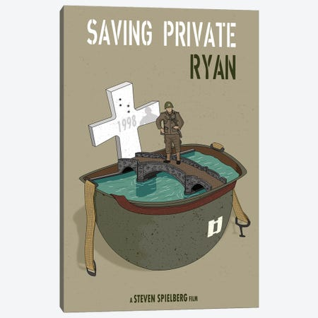 Saving Private Ryan Canvas Print #CSR52} by Chris Richmond Art Print