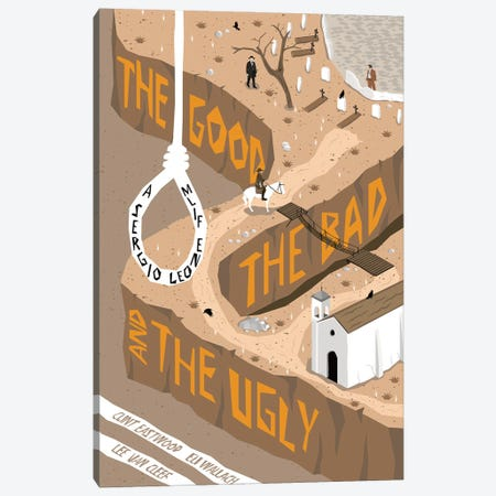 The Good The Bad The Ugly Canvas Print #CSR57} by Chris Richmond Canvas Artwork