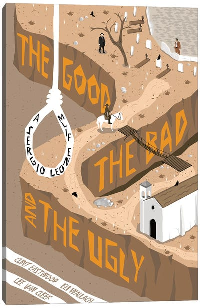 The Good The Bad The Ugly Canvas Art Print