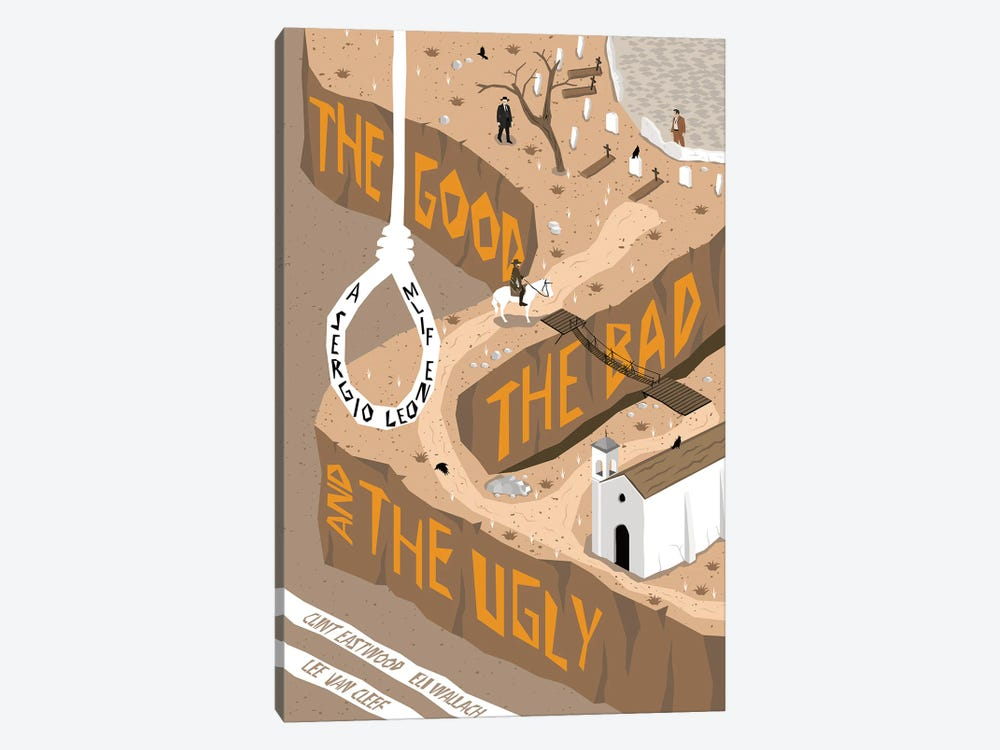 The Good The Bad The Ugly by Chris Richmond 1-piece Canvas Print