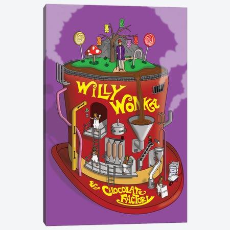 Willy Wonka Canvas Print #CSR73} by Chris Richmond Art Print