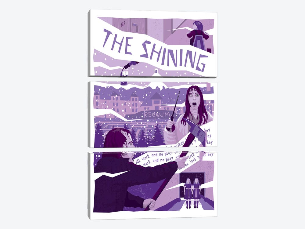 The Shining by Chris Richmond 3-piece Canvas Wall Art