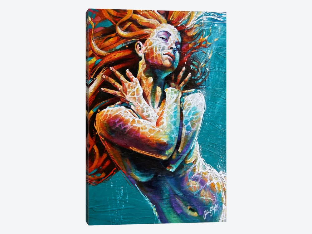 Floating in Colour  by Colin Staples 1-piece Canvas Wall Art