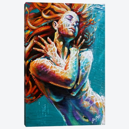 Floating in Colour  Canvas Print #CSS24} by Colin Staples Canvas Art