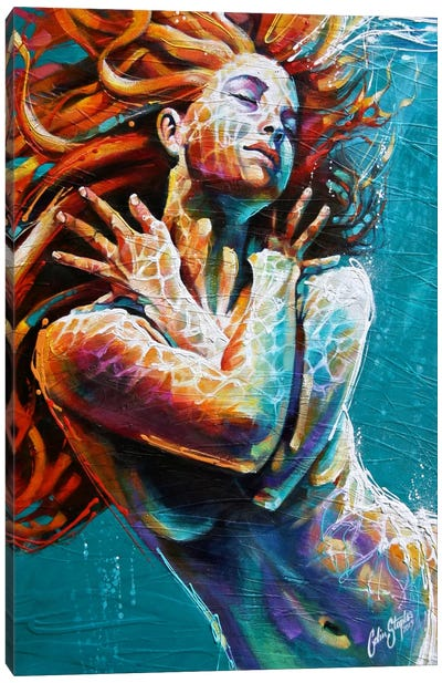 Floating in Colour  Canvas Art Print