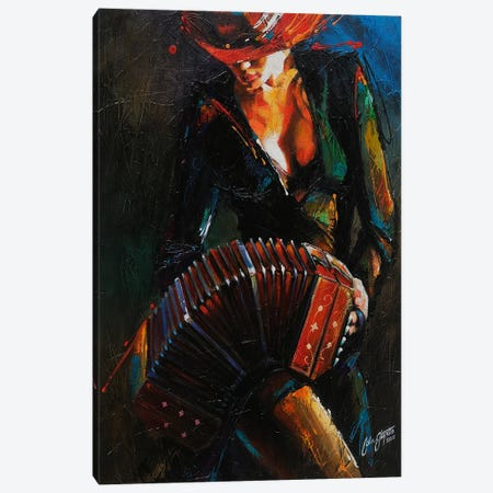 Reina del Bandoneon  Canvas Print #CSS6} by Colin Staples Canvas Art Print