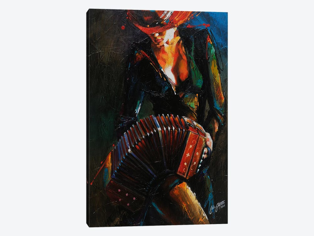 Reina del Bandoneon  by Colin Staples 1-piece Art Print