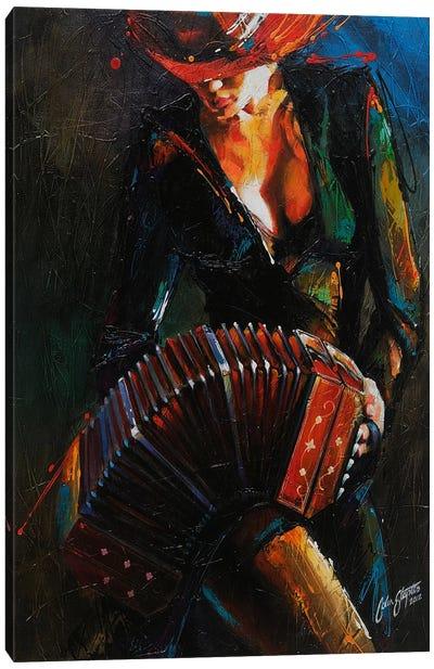 Reina del Bandoneon  Canvas Art Print