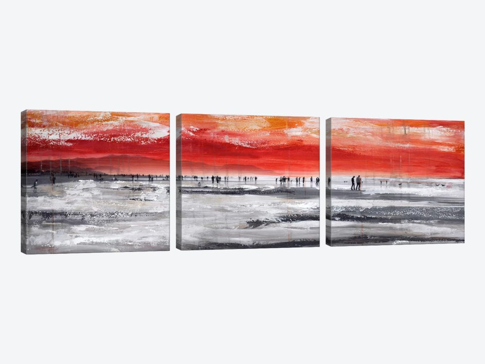 Beach IV by Clara Summer 3-piece Canvas Wall Art