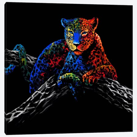 The Cheetah Canvas Print #CSU1} by Clara Summer Canvas Wall Art