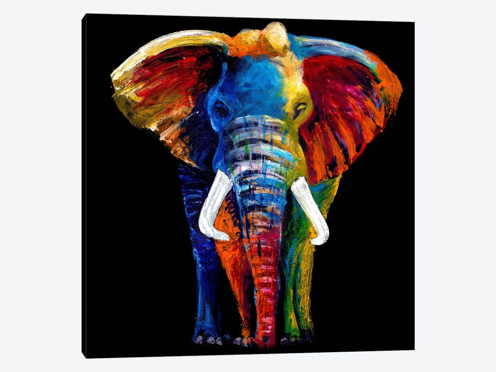 The Great Elephant by Clara Summer 1-piece Canvas Print