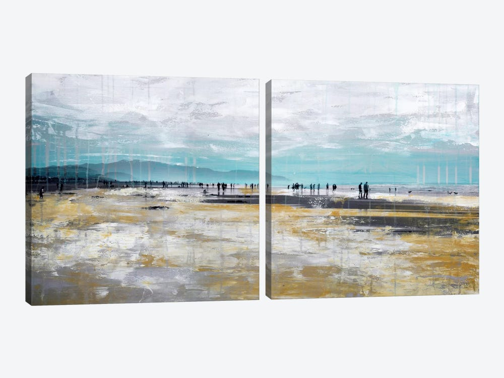 Beach III Diptych by Clara Summer 2-piece Canvas Wall Art
