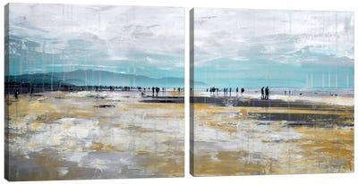 Beach III Diptych Canvas Art Print